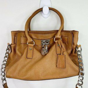 Michael Kors Hamilton Brown Leather Bag Purse